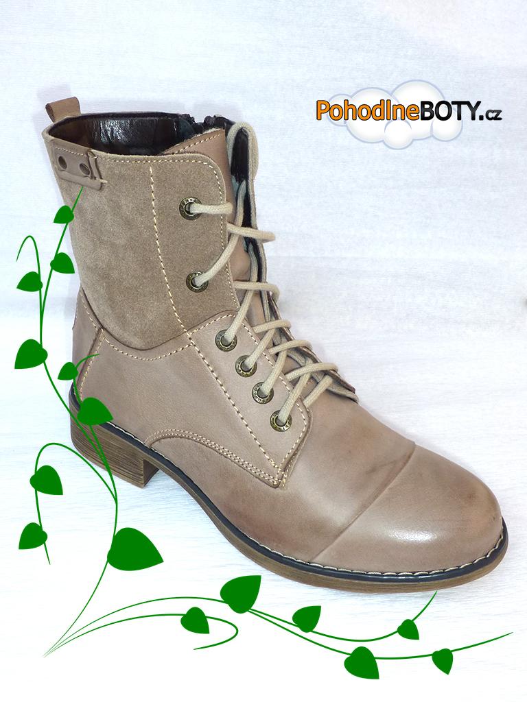 Dámská kotníková zimní obuv Aldex béžová  8895448d15