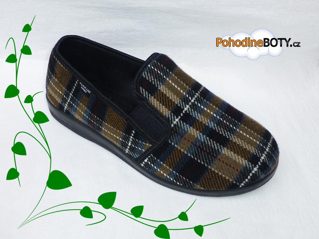 Papuče uzavřené s gumičkou širší střih e008888b82d